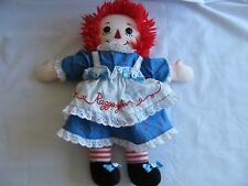 """Raggedy Ann 12"""" Plush Doll W/White Apron"""