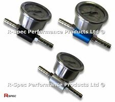 R-Spec Pro Fuel Pressure Adaptor & Gauge For Any Petrol Car FPR Rail Pump Reg