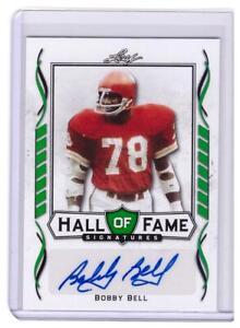 2021 Leaf Signature Football Bobby Bell Auto Autograph HOF Chiefs Green Card SP