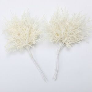 20x Fake Leaves Foliage Bouquet Garland Xmas Home Decor Accessories Beige