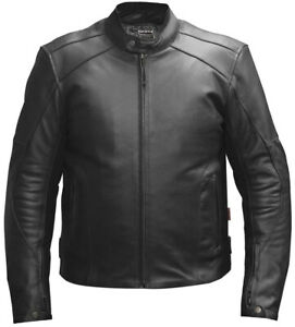 Leather Motorbike Motorcycle Jacket Biker Black CE Armoured Touring - Skintan