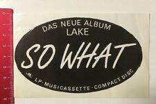 ADESIVI/Sticker: Lake-so What-LP musicassette Compact Disc (10031660)
