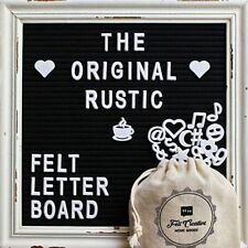 Reusable Message Board Letters Number Wood Frame Blackboard Home Decor Gift