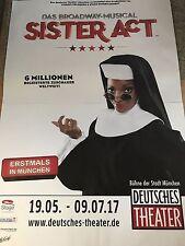SISTER ACT - MUSICAL 2017 MÜ.  orig.Concert Poster - Konzert Plakat 168 x 118 cm