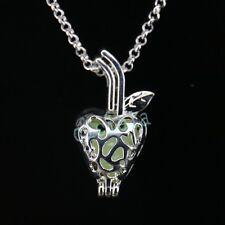 Punk Luminous Glowing Silver Plated Pendant Long Chain Necklace Women Jewelry