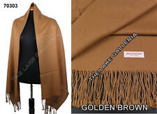 New Classic Golden Brown  Real 100% Pure Pashmina Cashmere Wool Shawl Wrap Scarf