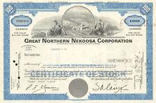 Great Northern Nekoosa > stock certificate now part of Georgia Pacific paper