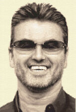 GEORGE MICHAEL - complete counted cross stitch kit *Jann Designs