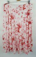 $138 Lauren Ralph Lauren Women's Floral Pauldina Long Maxi Skirt Pink Plus 18W