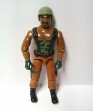 1984 GI Joe Roadblock V1 Action Figure With Helmet Heavy Machine Gunner Vintage