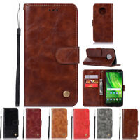 Luxury Magnetic PU Leather Flip Wallet Card Case Cover For Motorola Moto G6 2018