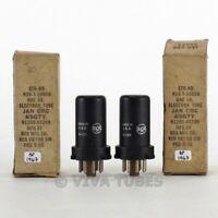 True NOS NIB Date Matched Pair RCA USA JAN-CRC-6SG7Y Metal Vacuum Tubes 100+%