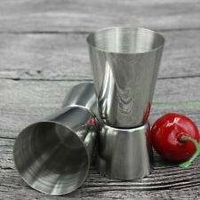 Stainless Steel Double Single Shot Measure Jigger Spirit Bar Cocktail Cup UK