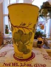 Shabby alter Übertopf aus Metall Blumentopf Blumen Vintage  ca. 15 x 25 cm