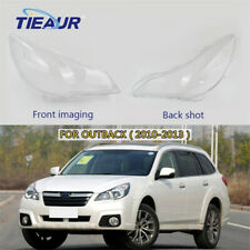 Right+Left Side Front Headlight Lens Cover For Subaru Outback 2010-2013