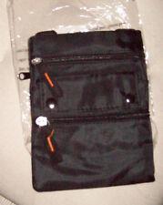 Mini Small Bag Purse Cross body Four pocket Pouch Black NEW