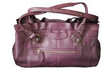 Coach Signature Pastel Purple Textured Leather Handbag Purse