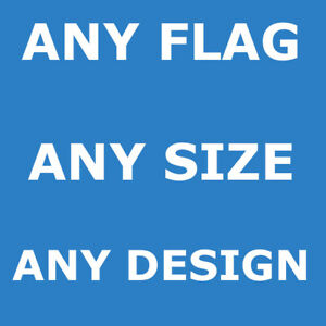 CUSTOM PRINTED PERSONALISED FLAG BANNER | ANY SIZE | ANY DESIGN | FOOTBALL PROMO