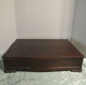 Storage Chest Wooden Silverware Flatware Case Silverplate Anti Tarnish VTG Wood