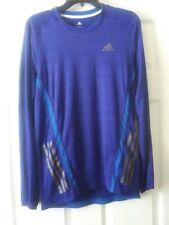 Adidas Men's Supernova Climacool Shirt Running Workout Long Slv Blue Sz M