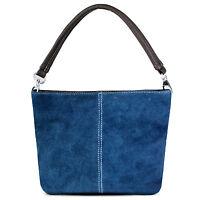 New Ladies Real Italian Suede Leather Hobo Shoulder Handbag Tote Mini Slouch Bag