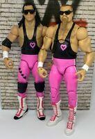 WWE Elite The Hart Foundation Bret The Hitman Hart & Jim The Anvil Neidhart 💕