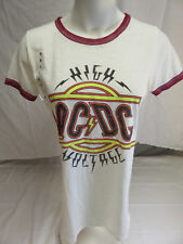 AC/DC HIGH VOLTAGE LADIES SHIRT CLASSIC ROCK MEDIUM NWT