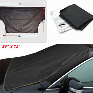 Pickup Snow Cover Magnet Windshield Ice Sun Frost Protector Tarp For Ram