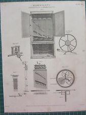1814 datato antico stampa ~ Miscellany Hawkin's claviole dito digitato VIOL