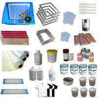TECHTONGDA 4 Colors Screen Printing Materials Kit with Ink Squeegee