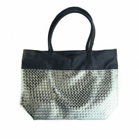 Saks Fifth Avenue 'Summer 2012 Exclusive Woven Metallic Large Tote Bag' New