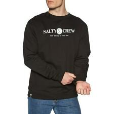 SALTY CREW Men's Crewneck RAILED - BLK - Medium - NWT