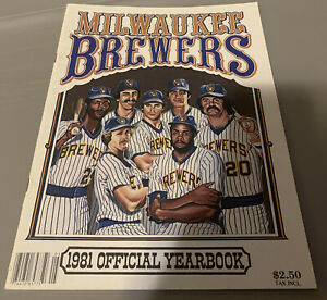 1981 Milwaukee Brewers Official MLB Yearbook