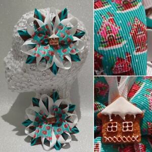 Handmade unusual Christmas gingerbread house Harajuku romany hair bows