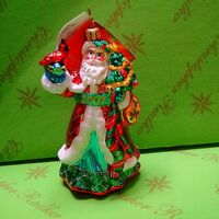 Christopher Radko Shimmering Santa Glass Ornament