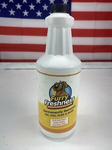 Furry Freshness Premium Pet Stain & Smell Remover 32 Oz Pee Poo Puke And More