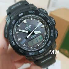 Casio Protrek Triple Sensor Tough Solar Men's Watch PRG-550-1A1 Black Resin New
