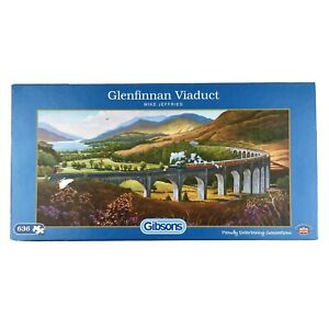 Glenfinnan Viaduct Jigsaw Puzzle 636 Gibson Steam Train Scotland Railway Bridge