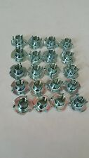 "3/8""-16 T-Nut,Tee nut,Blind Nut,4 prong,Zinc plated,Bag of 20,Free shipping"