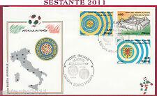 ITALIA FDC COPPA DEL MONDO MONDIALI ITALIA '90 GENOVA STADIO FERRARIS 1990 T3
