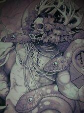 John Dyer Baizley Serpents Unleashed Monochrome Edition Signed Silk Screen print