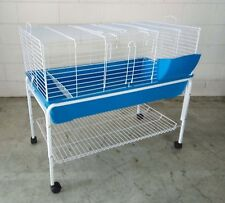 Brand New Metal Rabbit Guinea Pig Ferret Hutch Small animals Cage w Stand 99cm