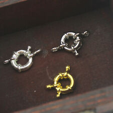 Jewelry Accessories Gold Plated Spring Ring Clasps For Necklace Bracelet 10 Pcs