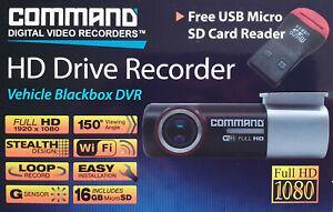 Car Dash Cam HD Drive Camera Vehicle Blackbox DVR Digital Video Recorder 16Gb
