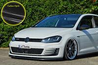 Spoilerschwert Frontspoiler Lippe ABS VW Golf 7 GTI + GTD ABE Carbon Optik