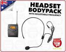 HEADSET Bodypack Adjustable Frequency Cordless Wireless Microphones Mic BP01