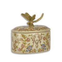 9973719 Covered Dish Box of Chocolates Bronze Antique Style Dragonfly 12x9x12cm