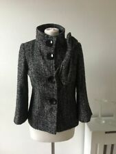 Marks and Spencer Wool Blend Outer Shell Grey Coats, Jackets & Waistcoats for Women