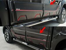 MAZDA BT 50 PRO 4 DOOR 2016-17 ABS BLACK SIDE DOORS BODY MOLDING TRIMS SET OF 4