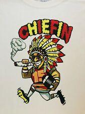 "KANSAS CITY CHIEFS  ""CHIEFIN""  (GRAY OR WHITE) SIZE: M,L,XL,2XHOODED SWEAT SH"